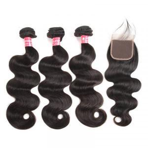 Malaysian Hair Body Wave Virgin Hair Bundles With Lace Closure