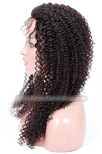 20 Inch Kinky Curl Malaysian Virgin Hair Full Lace Wigs