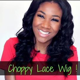Black Choppy Bob Style Middle Part Human Hair Lace Wigs