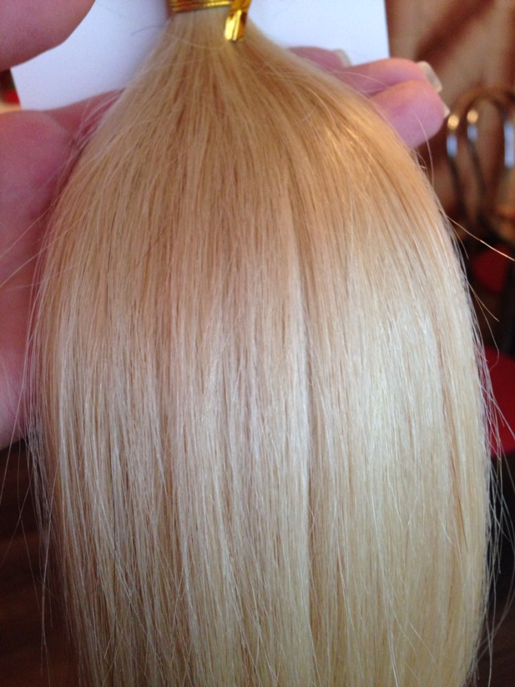 10 - 30 Inch Tape In Remy Human Hair Extensions #60 White Blonde Straight 20 Pcs 07