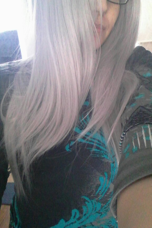 Two Tones Ombre Lace Front Wig with Black to Gray Gradient Heat Resistant Hair 10