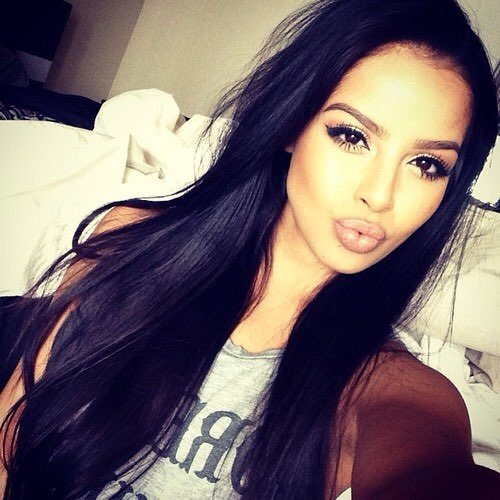 Silky Straight Indian Remy Hair Glueless Lace Front Wigs 23