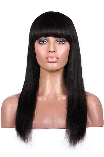 Silk top bangs wigs