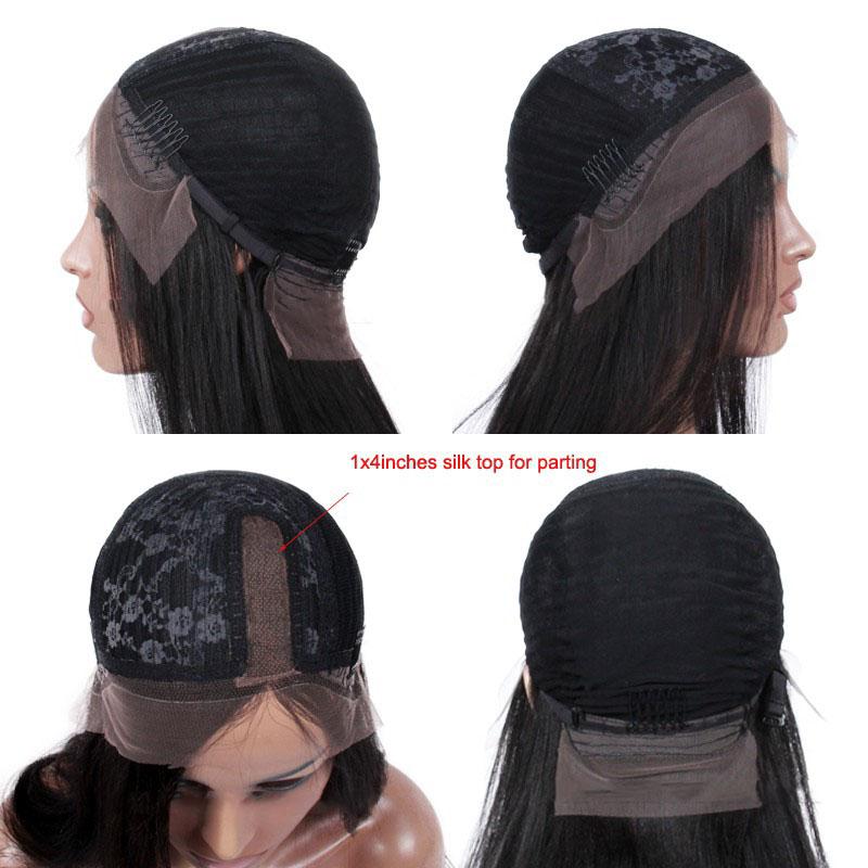 Silk part wig