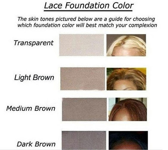 Hairplusbase Lace Color Chart