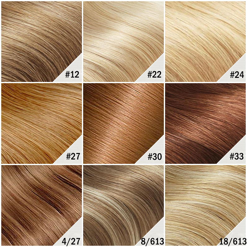 14 Inch Drawstring Human Hair Ponytail Glaring Straight #27 Strawberry Blonde Color Chart 2