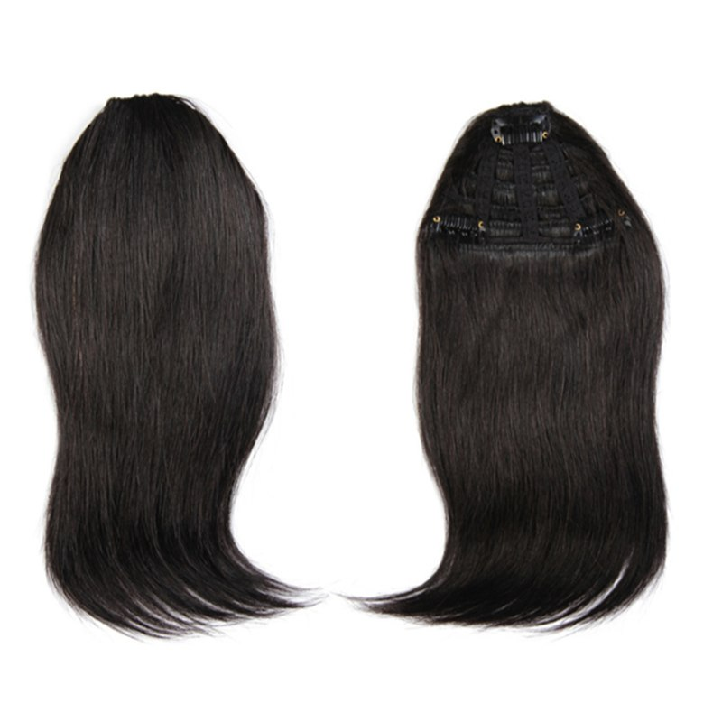 Natural Human Hair Extension Clip In Front Hair Bangs Fringe Human Straight Hair 0