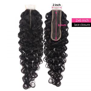 Natural Wave Hair Lace Closure 2x6 Inch Human Hair Closure