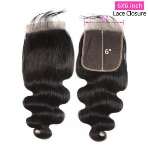 New Arrival Body Wave 6x6 Inch Lace Closure Cheap Virgin Human Hair Closure