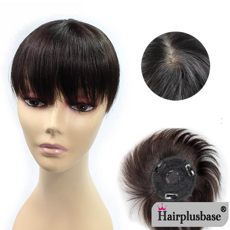 No Trace Of Bangs To Cover Gray Hair Contact True Hair Piece Piece Of Light Hair Replacement