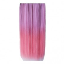 Ombre Colorful Clip in Hair Straight 02# Pink/Warm Pink 1 Piece