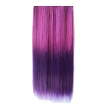 Ombre Colorful Clip in Hair Straight 09# Rosy/Purple 1 Piece