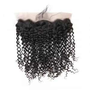 Peruvian Hair Curly Human Hair 13x4 Lace Frontal Closure With Baby Hair