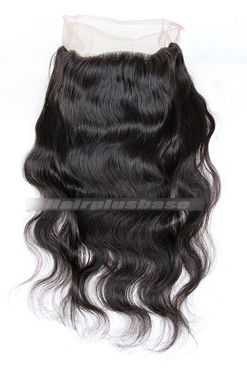 Peruvian Virgin Hair Body Wave 360°Circular Lace Fro6ntal with 2 Weaves Bundles Deal