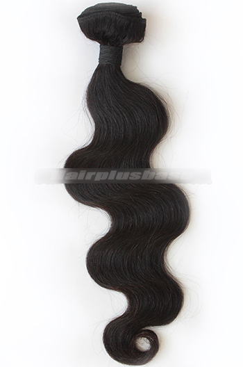 10-30 Inch Body Wave Black Peruvian Virgin Hair Wefts