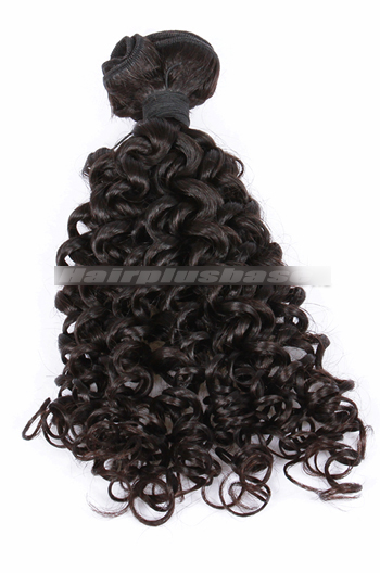 10-30 Inch Candy Curl Natural Color Peruvian Virgin Hair Wefts