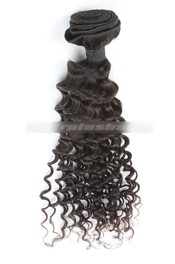 10-30 Inch Deep Body Wave Peruvian Virgin Hair Bundles 100g Hair Wefts