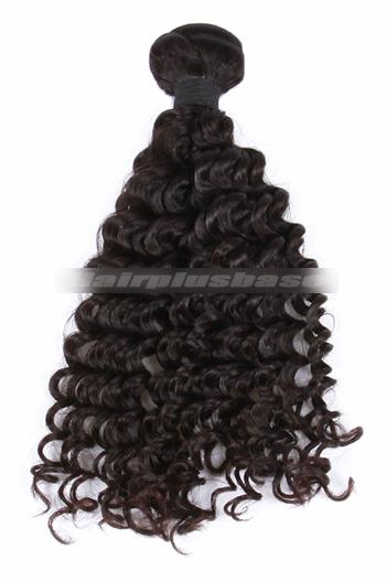 10-30 Inch Deep Wave Natural Color Peruvian Virgin Hair Wefts