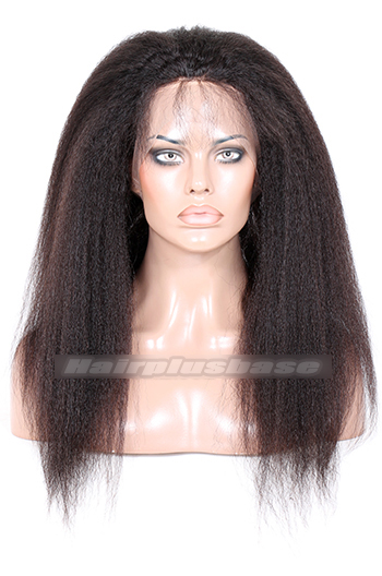 Peruvian Virgin Hair 360°Circular Lace Frontal Kinky Straight