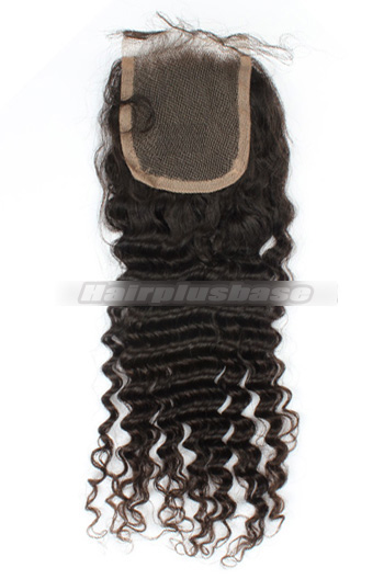 Deep Wave Peruvian Virgin Hair Lace Closure 4*4 Inches