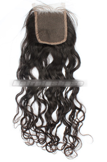 Loose Curl Peruvian Virgin Hair Lace Closure 4*4 Inches