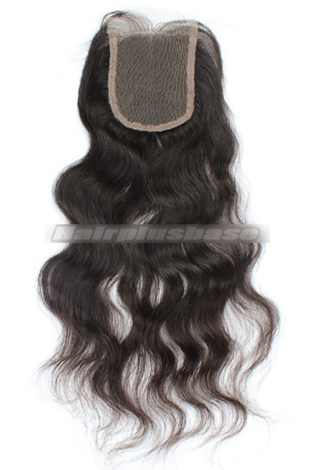 Natural Straight Peruvian Virgin Hair Lace Closure 4*4 Inches