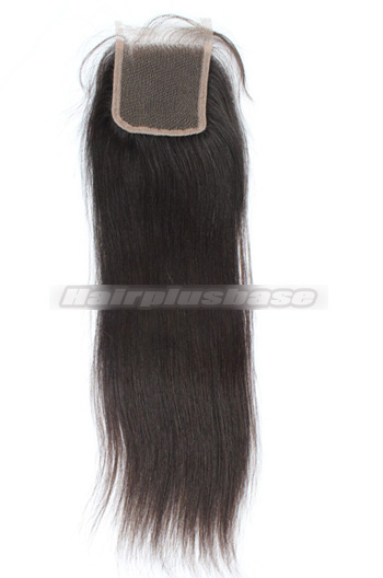 Silky Straight Peruvian Virgin Hair Lace Closure 4*4 Inches