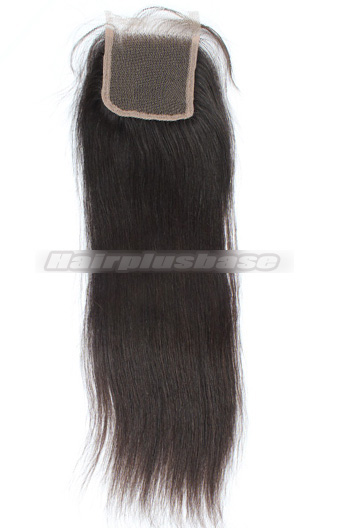 Yaki Straight Peruvian Virgin Hair Lace Closure 4*4 Inches