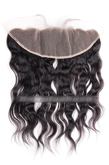 Natural Wave Peruvian Virgin Hair Lace Frontal