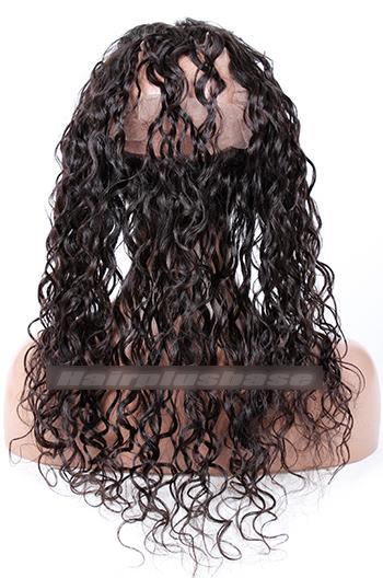 Loose Curl Peruvian Virgin Hair 360°Circular Lace Frontal
