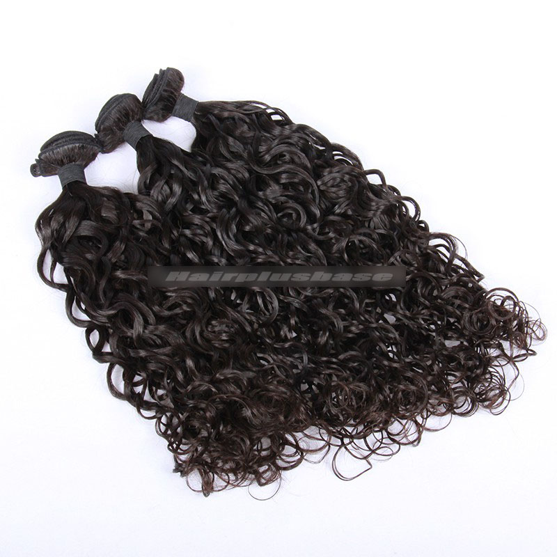 Peruvian Virgin Hair Loose Curl 360°Circular Lace Frontal with 3 Weaves Bundles Deal