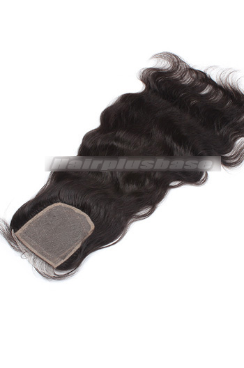 Natural Wave Peruvian Virgin Hair Silk Base Closure 4*4 Inches