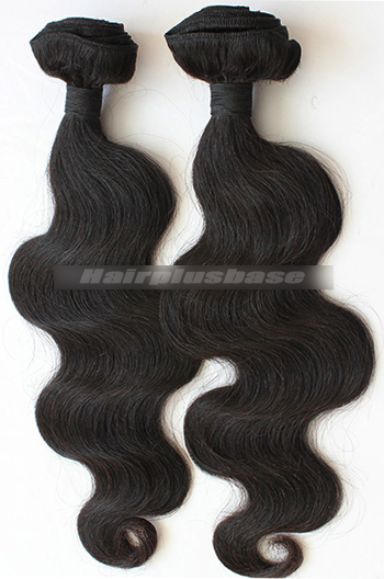 10-30 Inch Body Wave Black Peruvian Virgin Hair Weave 2 Bundles Hair Deal