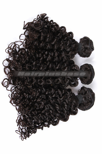 10-30 Inch 3 Bundles Natural Color Candy Curl Peruvian Virgin Hair Weave