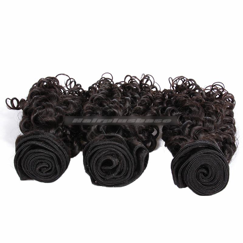 3 Bundles Deal Peruvian Virgin Hair Natural Color Candy Curl Hair Extension
