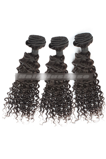 10-30 Inch 3 Bundles Natural Color Deep Body Wave 7A Virgin Hair Wefts