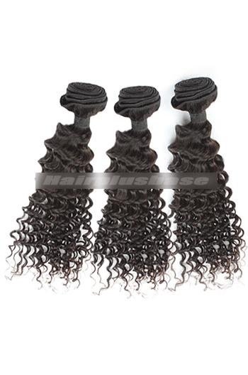 10-30 Inch 3 Bundles Natural Color Deep Body Wave Peruvian Virgin Hair Wefts