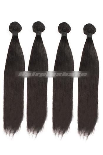 10-30 Inch Light Yaki Peruvian Virgin Hair Weaves 4 Bundles Deal