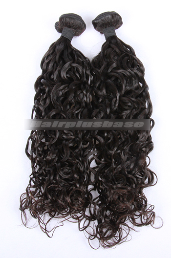 10-30 Inch Loose Curl Natural Color Peruvian Virgin Hair Weave 2 Bundles Hair Deal