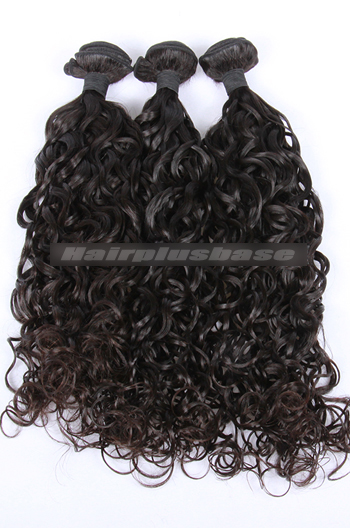 10-30 Inch 3 Bundles Natural Color Loose Curl 7A Virgin Hair Wefts