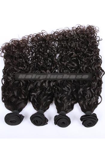 10-30 Inch Natural Color Loose Curl Peruvian Virgin Hair Wefts 4 Bundles Deal
