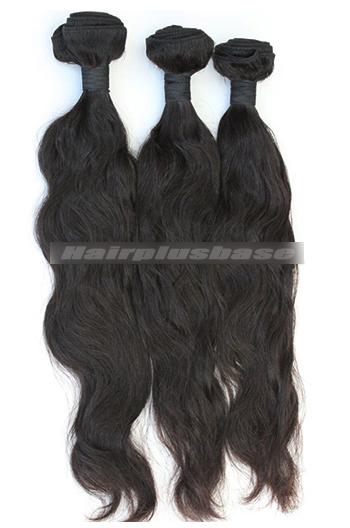 10-30 Inch 7A Virgin Hair Natural Color Natural Wave Hair Extension 3 Bundles Deal
