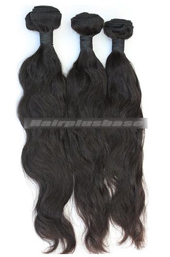 10-30 Inch Peruvian Virgin Hair Natural Color Natural Wave Hair Extension 3 Bundles Deal