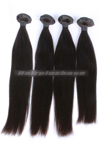 10-30 Inch Silky Straight Natural Color Peruvian Virgin Hair Weaves 4 Bundles Deal