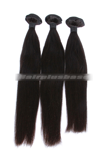 10-30 Inch 3 Bundles Natural Color Silky Straight 7A Virgin Hair Wefts