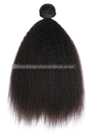 Kinky Straight Peruvian Virgin Hair Natural Color Weave Wefts1 Bundle