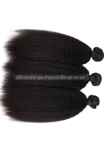 10-30 Inch Kinky Straight Peruvian Virgin Hair Weaves 3 Bundles Deal