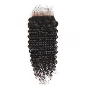 Popular Deep Wave Human Hair 6x6 Inch Lace Closure Pre-Plucked With Baby Hair