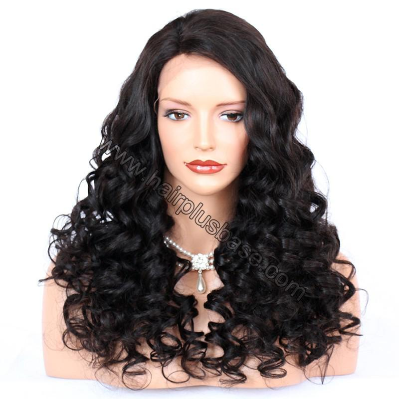 Pre Plucked Natural Hairline 360 Lace Wigs Loose Wave,180% Density, Indian Remy Hair, 4.5inches Deep Part 1