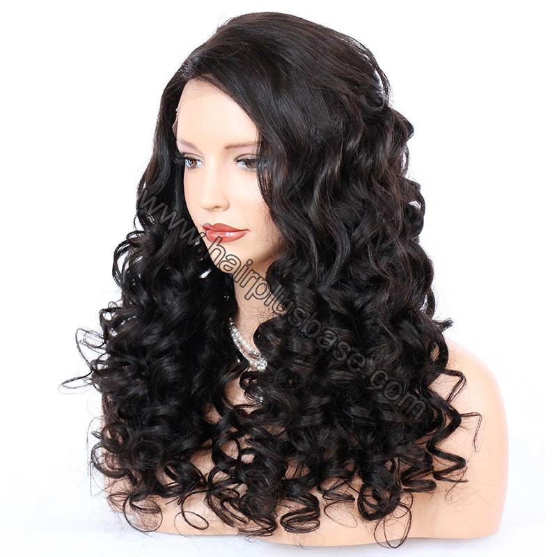Pre Plucked Natural Hairline 360 Lace Wigs Loose Wave,180% Density, Indian Remy Hair, 4.5inches Deep Part 3